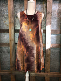 Rust Tie Dye Dress