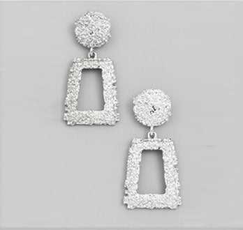 Khaleesis Textured Square Earrings