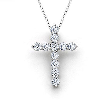 Luxe Crystal Cross Pendant Necklace