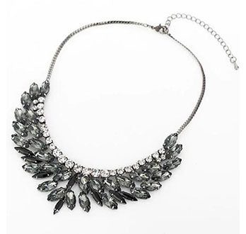 Slate Crystal Necklace