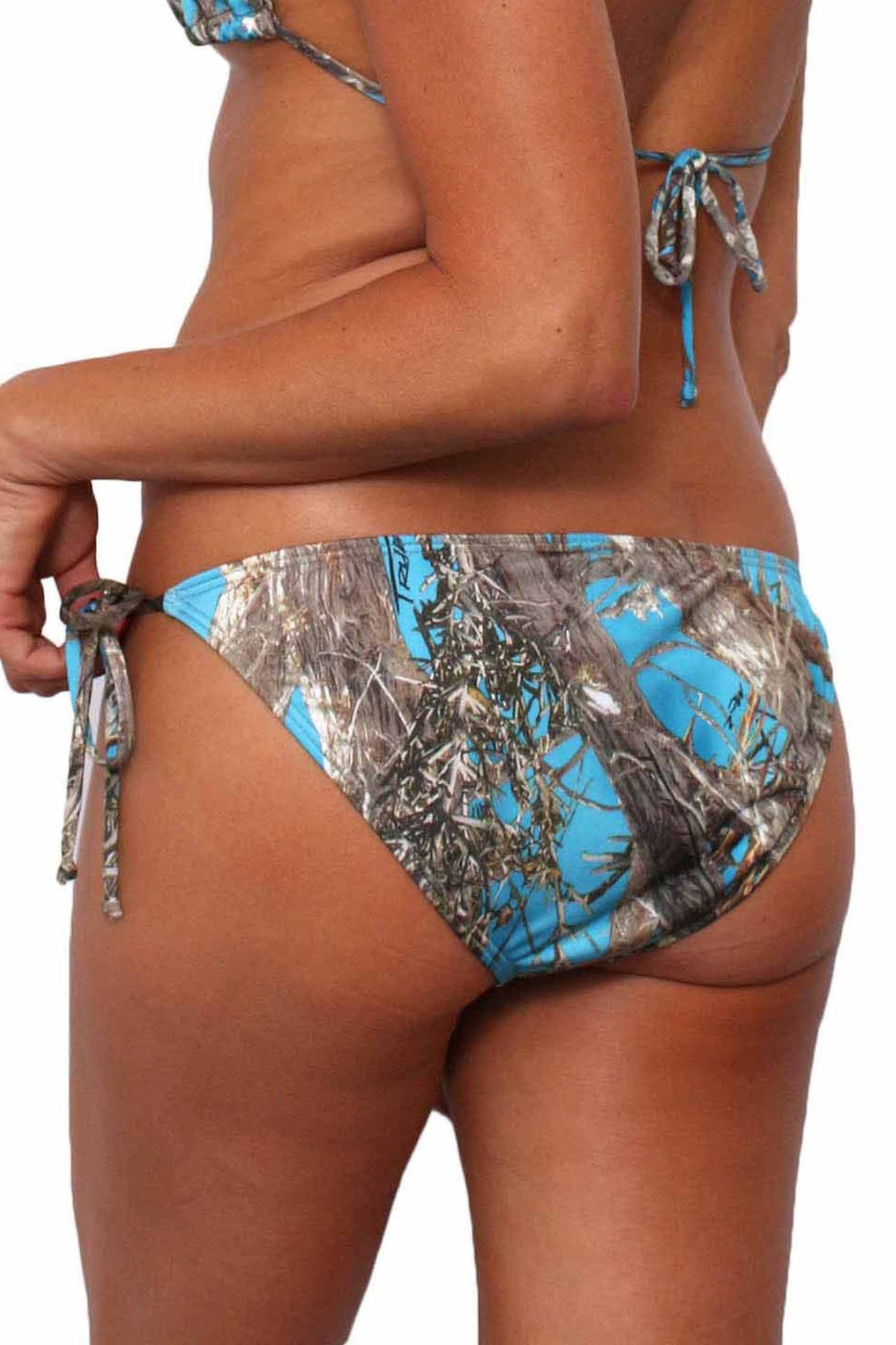 Women's Blue Authentic True Timber Bikini Bottom