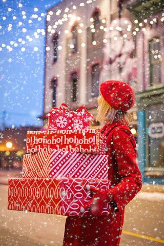 Hand deliver wrapped gifts to loved ones