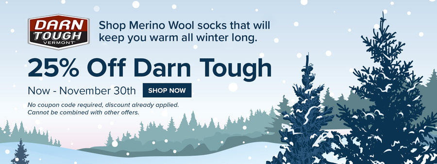 25% off Darn Tough, now - Cyber Monday