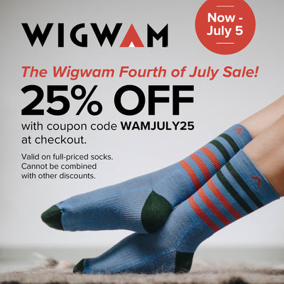 25% off full-priced Wigwam with code WAMJULY25