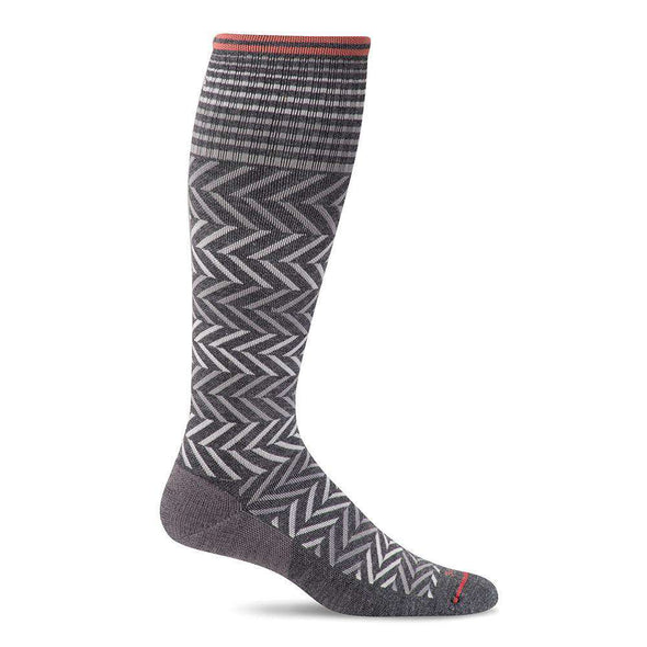 Sockwell Women's Chevron Moderate Compression Socks, Charcoal