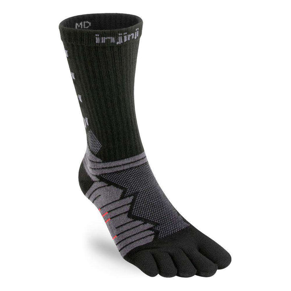 Injinji Men's Ultra Run Crew, Obsidian