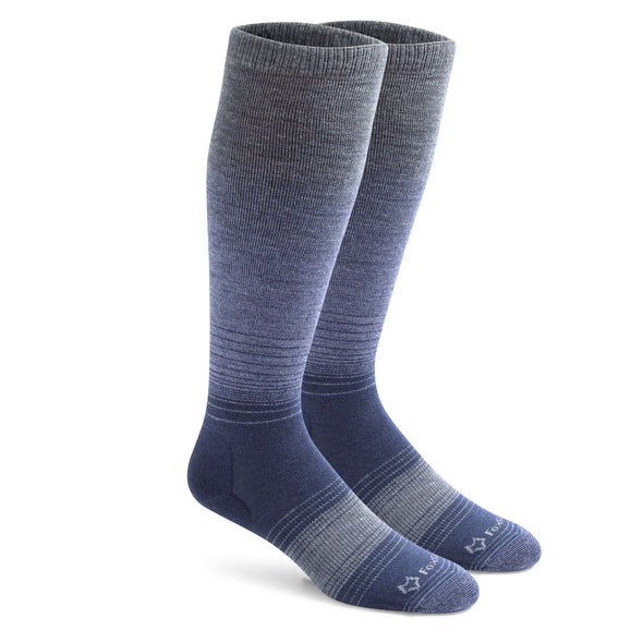 Fox River Men's Force Ultra Light Over-The-Calf Compression Socks, Grey/Navy
