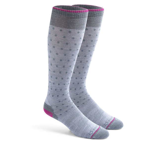 Fox River Women's Solar Ultra Light Over-The-Calf Compression Socks, Grey