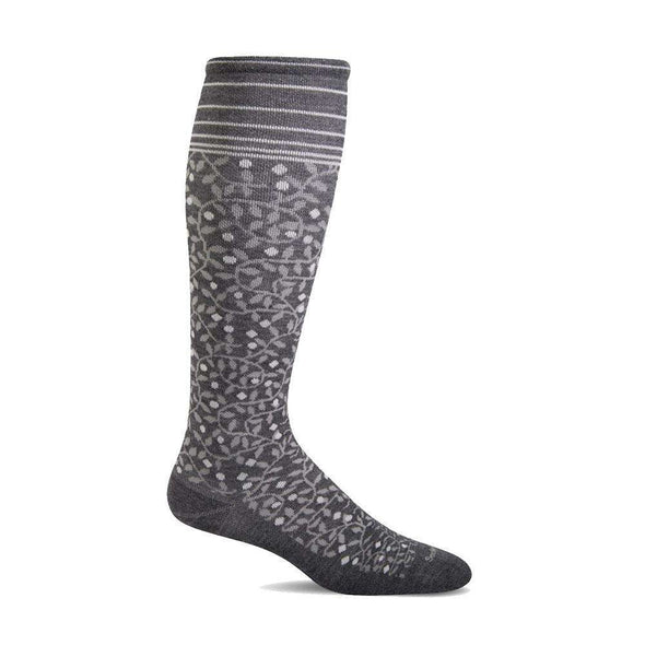 Sockwell Women's New Leaf Firm Compression Socks, Charcoal