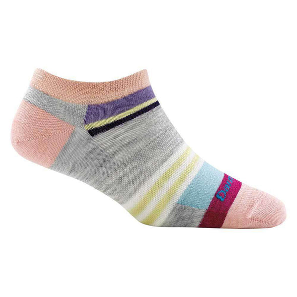 Darn Tough Women's Modern Stripe No Show Light, Ash