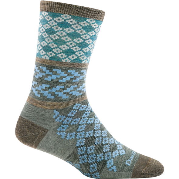 Darn Tough Women's Greta Crew Light, Aqua