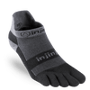 Injinji Run Midweight No-Show, Gray Black