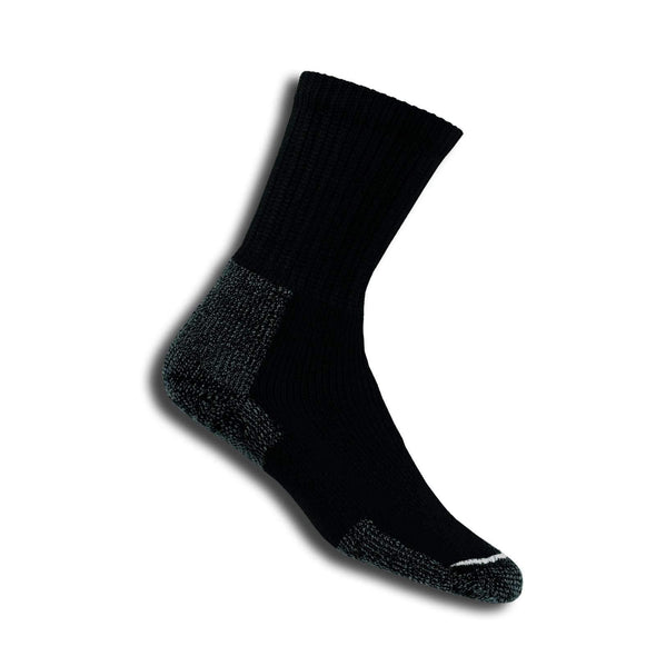 Thorlos Men's Hiking Crew Socks, Black
