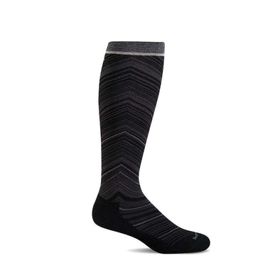Sockwell Women's Full Flattery Moderate Compression Socks, Black