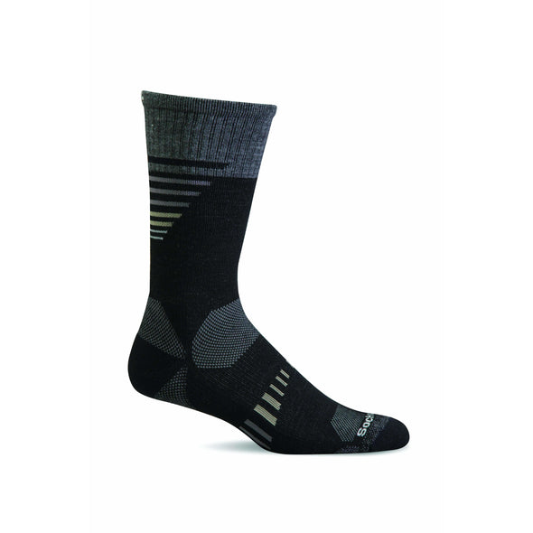 Sockwell Men's Ascend II Crew Moderate Compression Socks, Black