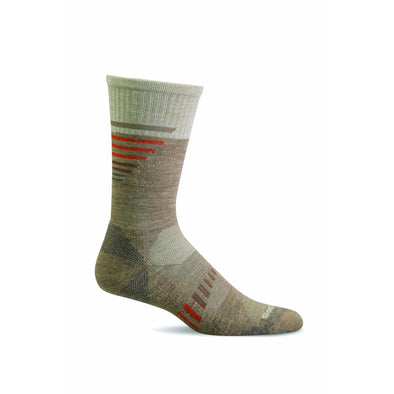 Sockwell Men's Ascend II Crew Moderate Compression Socks, Khaki