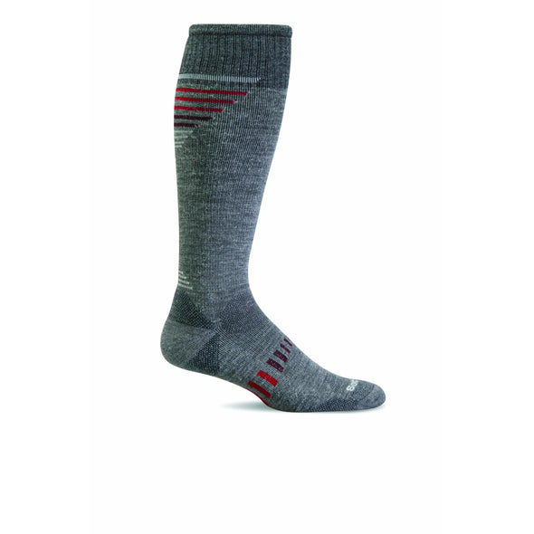 Sockwell Men's Ascend II Knee-High Moderate Compression Socks, Grey