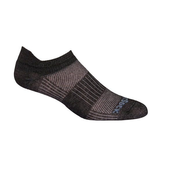 Wrightsock CoolMesh II Tab Socks, Black Marl