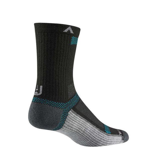 Wigwam Ultra Cool Lite Mid Crew Socks, Black II