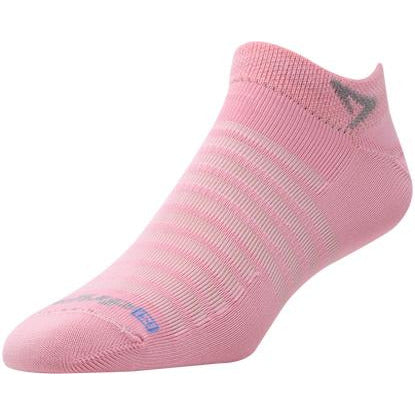 Drymax Hyper Thin Running Mini Crew Socks, Light Pink