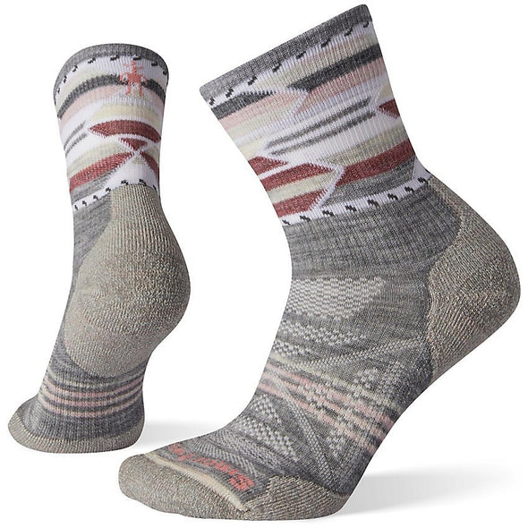Smartwool Women's PhD? Outdoor Light Pattern Mid Crew Socks, Light Gray