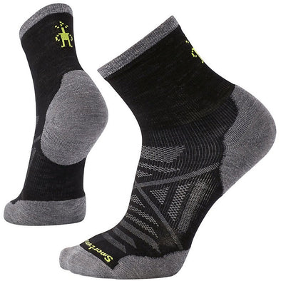 Smartwool Men's PhD® Run Cold Weather Mid Crew Socks, Black