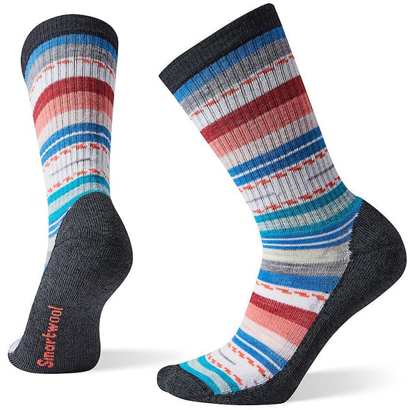 Smartwool Women's Hike Light Margarita Crew Socks, Black/Multi Color