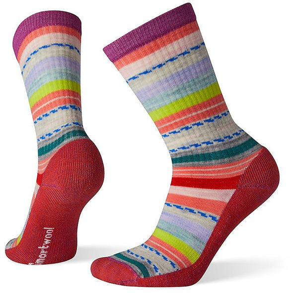 Smartwool Women's Hike Light Margarita Crew Socks, Meadow Mauve