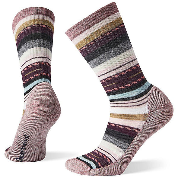 Smartwool Women's Hike Light Margarita Crew Socks, Nostalgia Rose