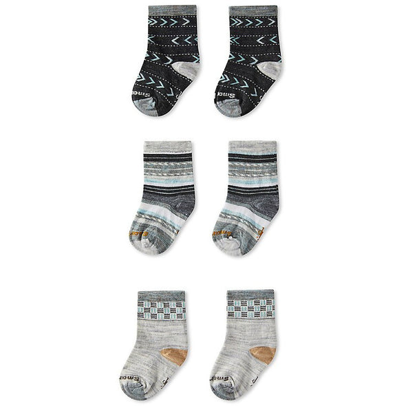 Smartwool Toddler Trio Socks, Ash