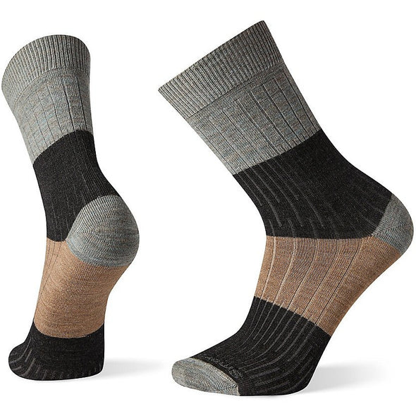 Smartwool Men's Rib Color Block Crew Socks, Lunar Gray