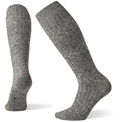 Smartwool Women's Wheat Fields Knee High Socks, Black/Multi Donegal