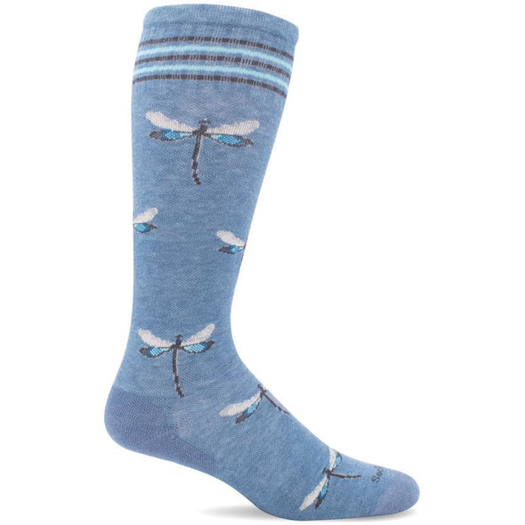 Sockwell Women's Dragonfly Moderate Compression Socks, Bluestone Shimmer