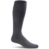 Sockwell Women's Full Floral Moderate Compression Socks, Black Solid