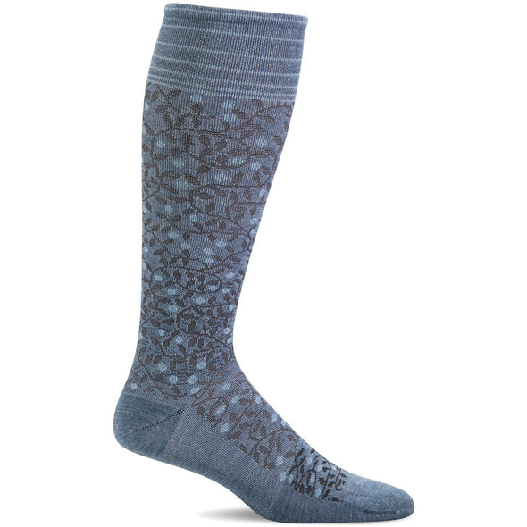 Sockwell Women's New Leaf Firm Compression Socks, Bluestone