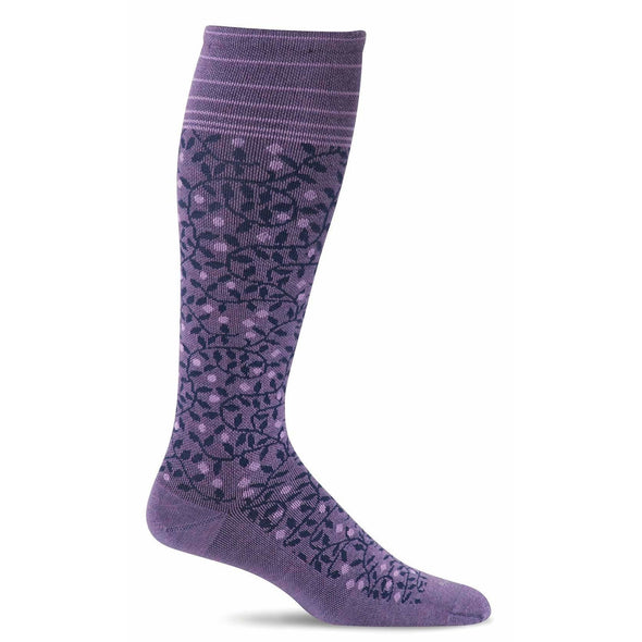 Sockwell Women's New Leaf Firm Compression Socks, Plum