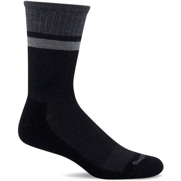 Sockwell Men's Foothold Moderate Compression Socks, Black