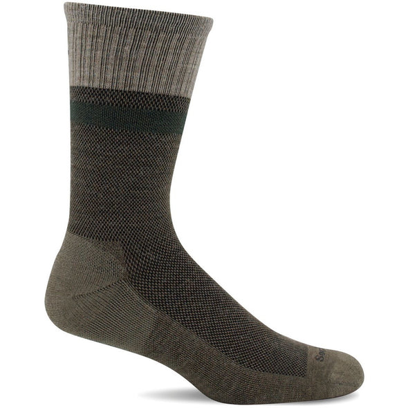 Sockwell Men's Foothold Moderate Compression Socks, Khaki