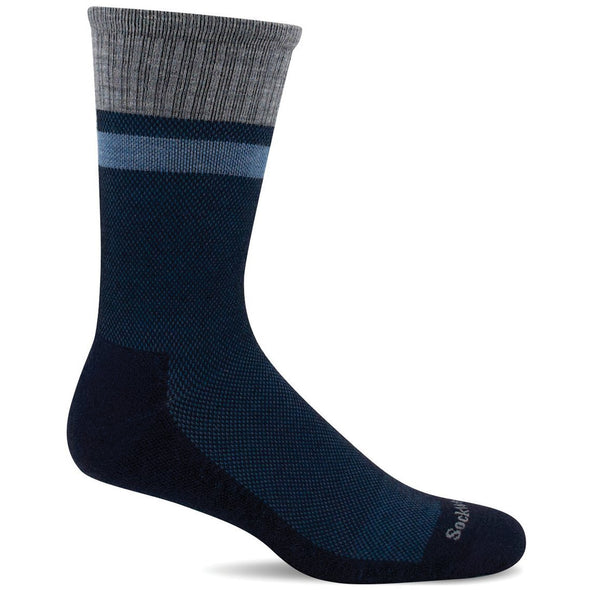 Sockwell Men's Foothold Moderate Compression Socks, Navy