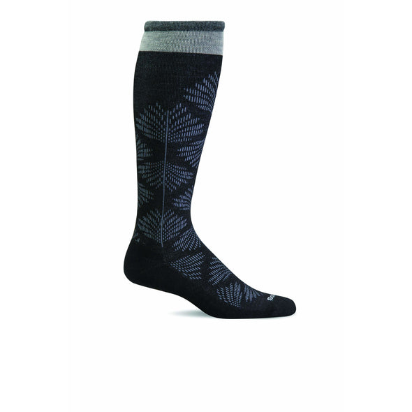 Sockwell Women's Full Floral Moderate Compression Socks, Black