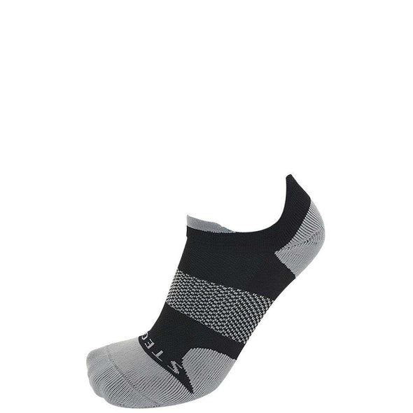 Stego RunTec Pro-Light No Show Tab Socks, Black/Grey