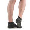 Stego EnduroTec+ Merino Wool Ultra Light No Show Socks, Charcoal/Grey, Rear