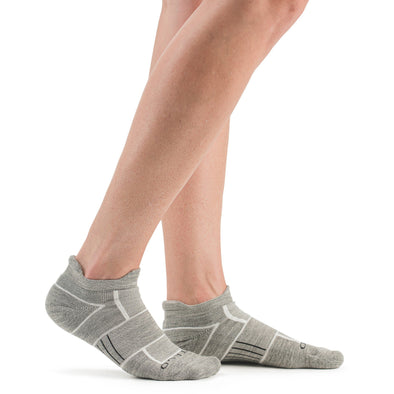 Stego EnduroTec+ Merino Wool Ultra Light No Show Socks, Grey