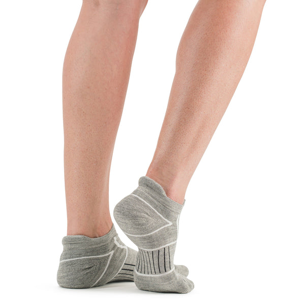 Stego EnduroTec+ Merino Wool Ultra Light No Show Socks, Grey, Rear