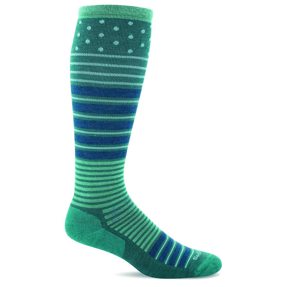 Sockwell Women's Twister Firm Compression Socks, Jade