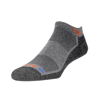 Drymax Extra Protection Running Mini Crew Socks, Anthracite/Orange