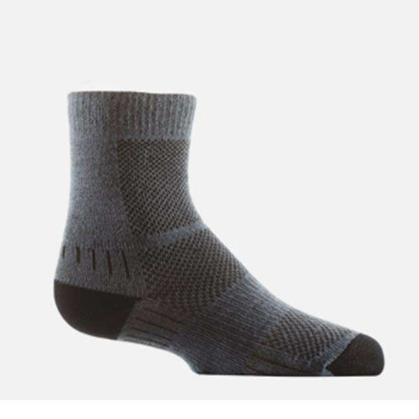 Wrightsock Kid's Coolmesh II Crew Socks, Grey