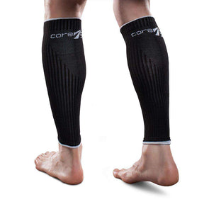 Therafirm Core-Sport 15-20 mmHg Athletic Compression Leg Sleeves - Black, XL