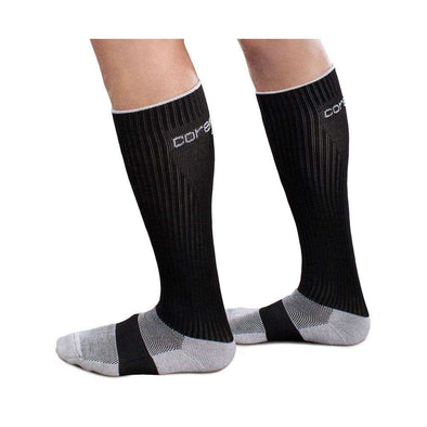 Therafirm Core-Sport 15-20 mmHg Athletic Performance Knee High Socks - Black, SM