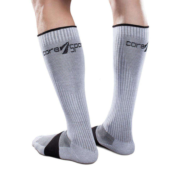 Core-Sport Moderate Compression Athletic Performance Socks, Grey